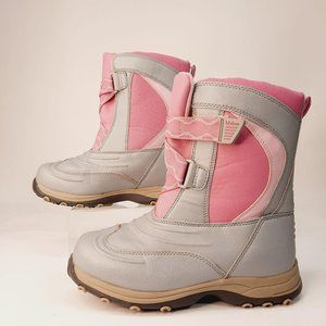 L.L. Bean Boots Girl's Size 4 Pink & Gray